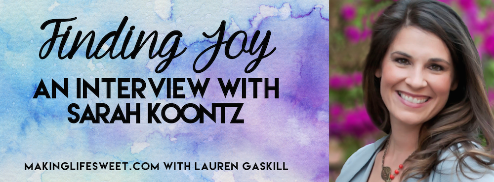 sarah koontz finding joy episode 3