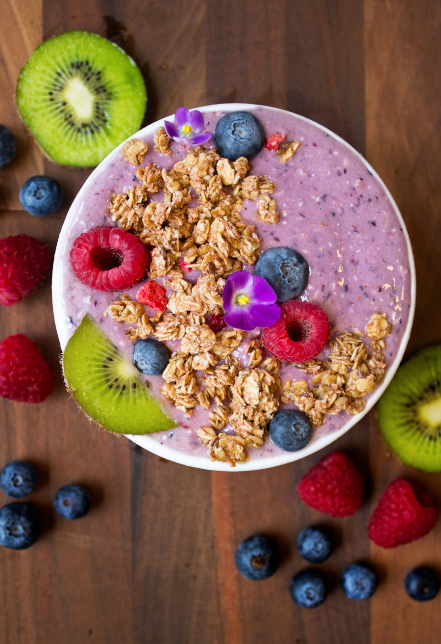 Purple Power Smoothie Bowls