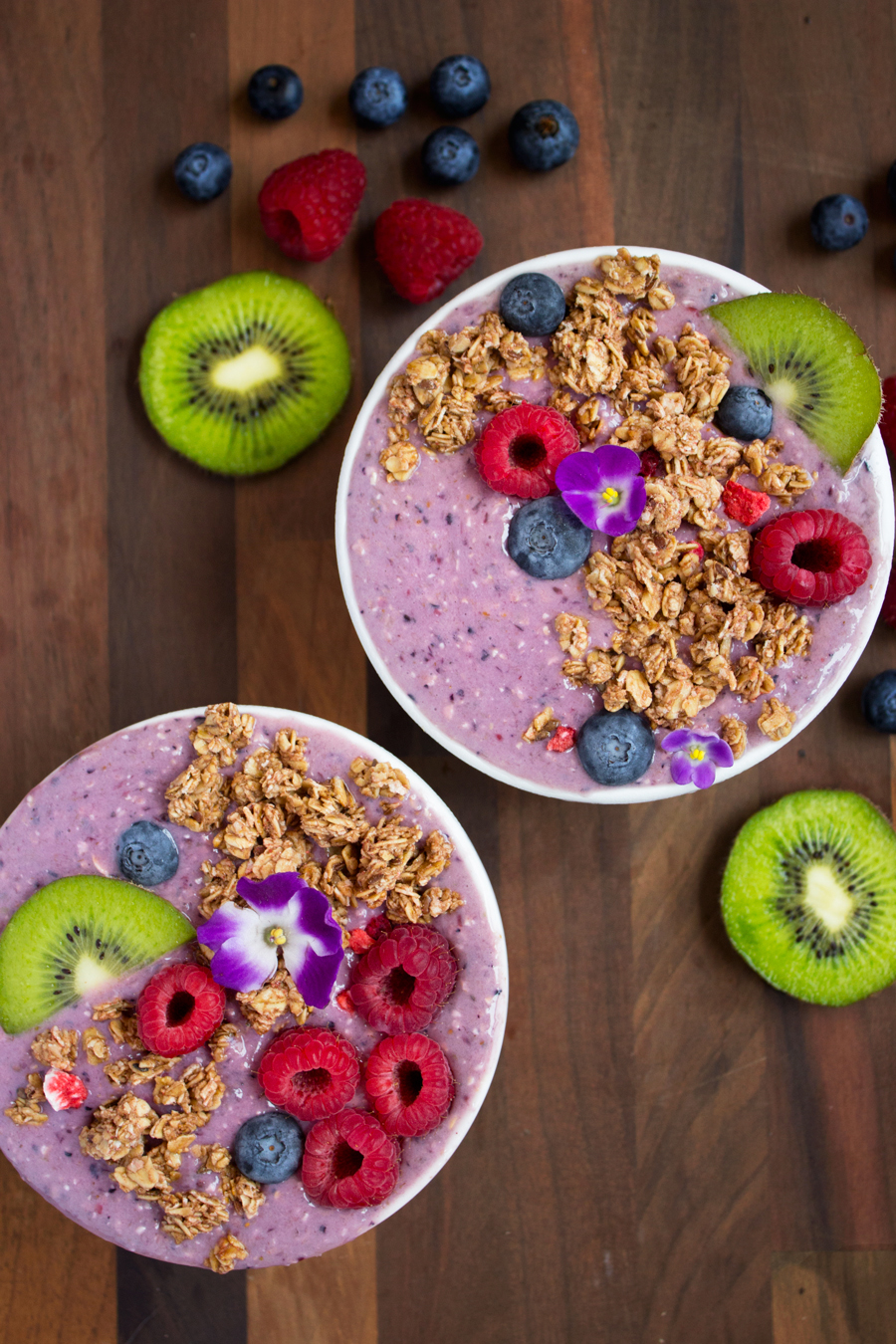 Purple Power Smoothie Bowls | Making Life Sweet with Lauren Gaskill