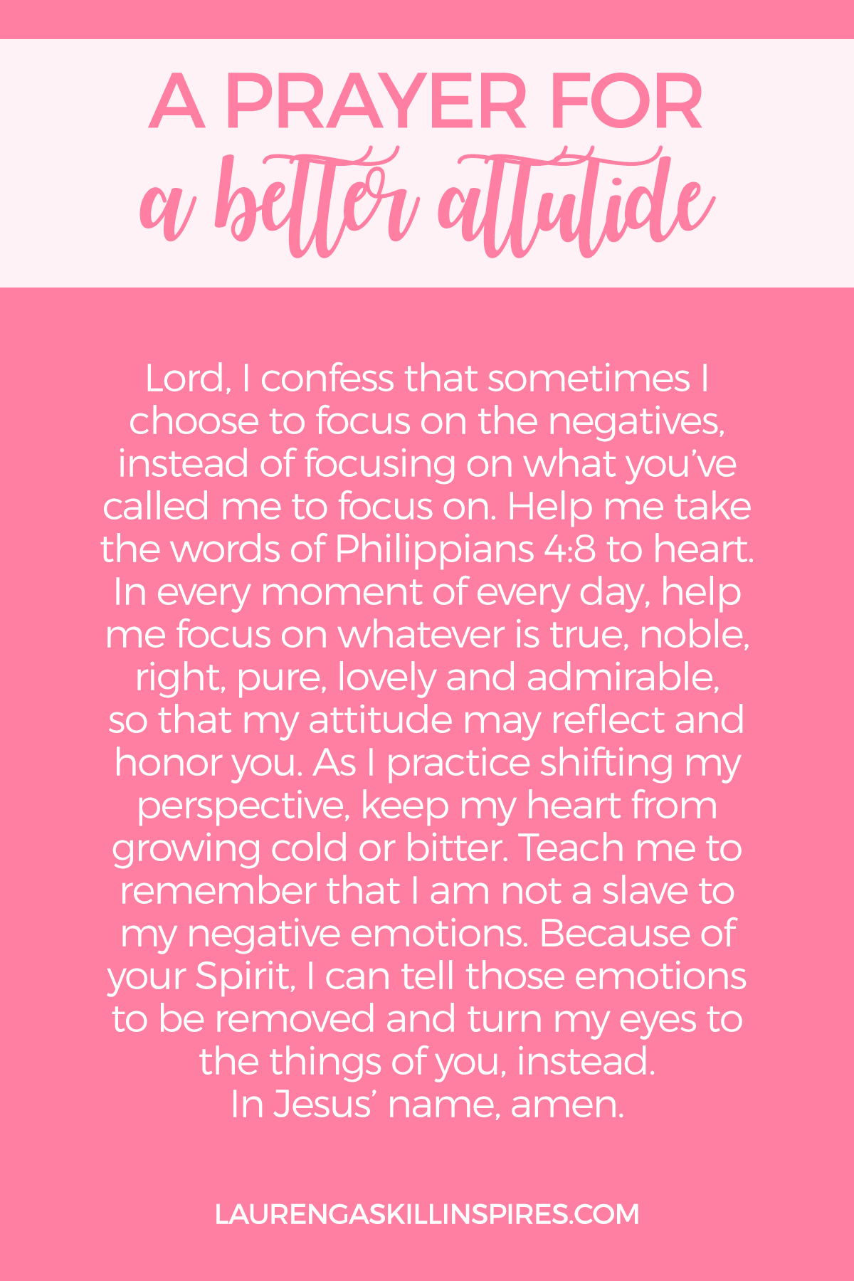 A Prayer for When You Need an Attitude Adjustment