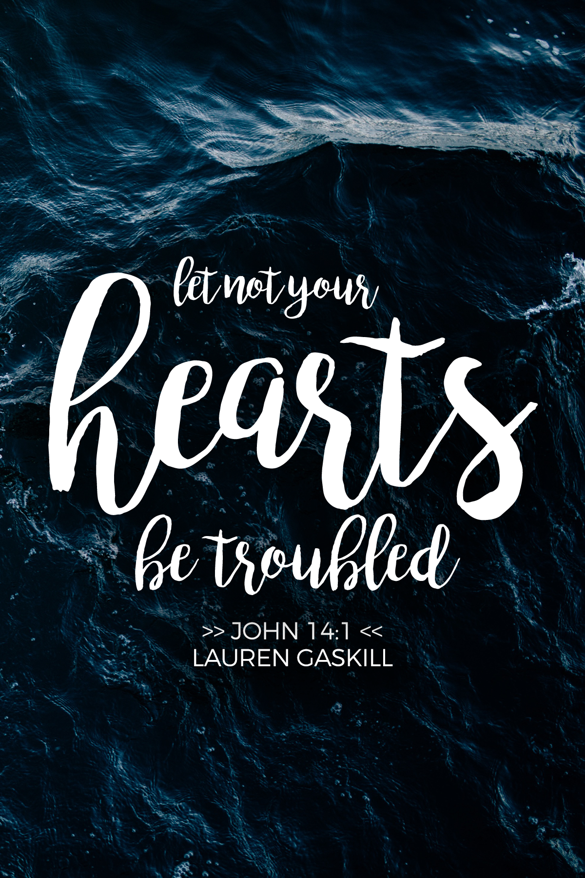 Let not your hearts be troubled. {John 14:1}