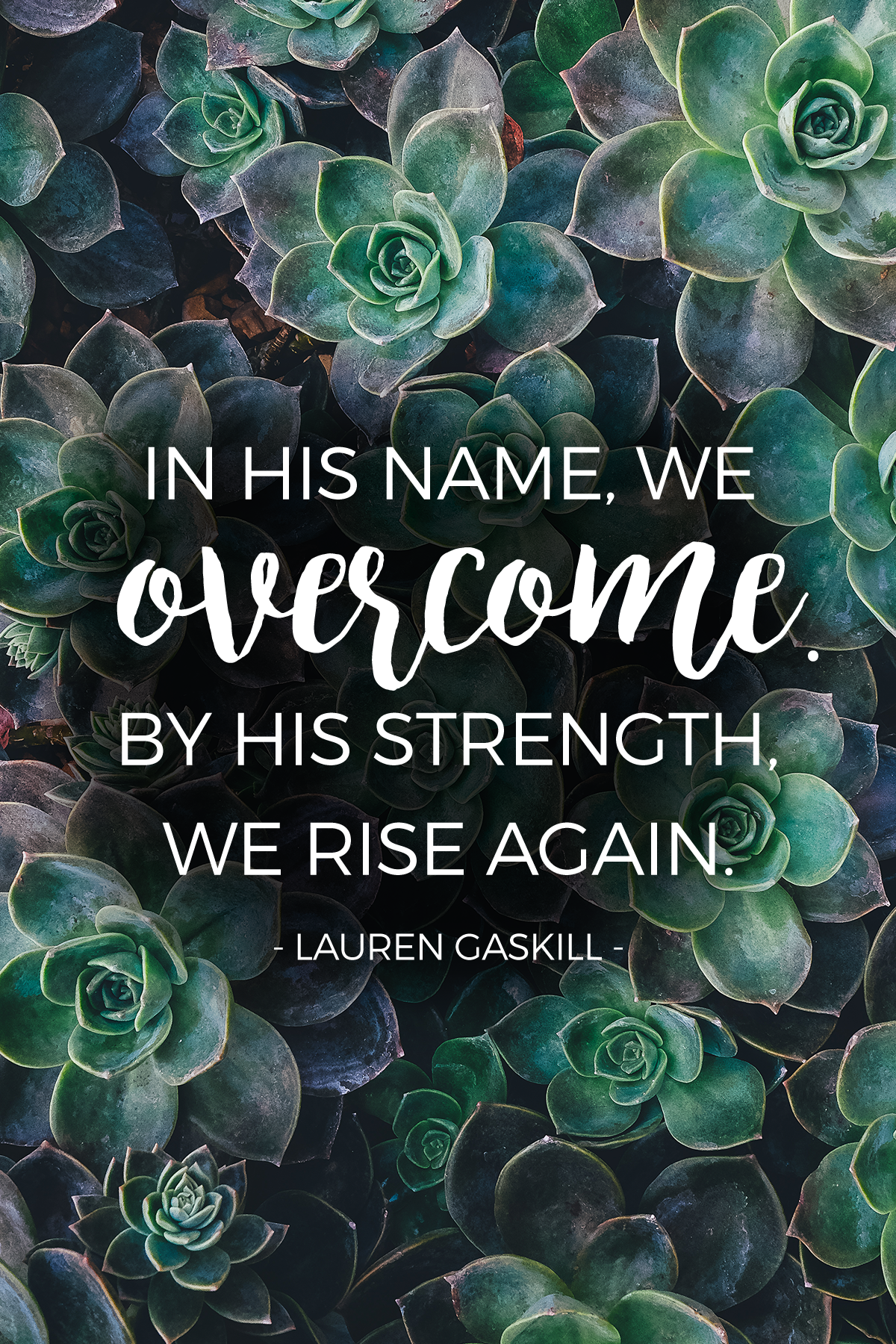 In His name, we overcome!