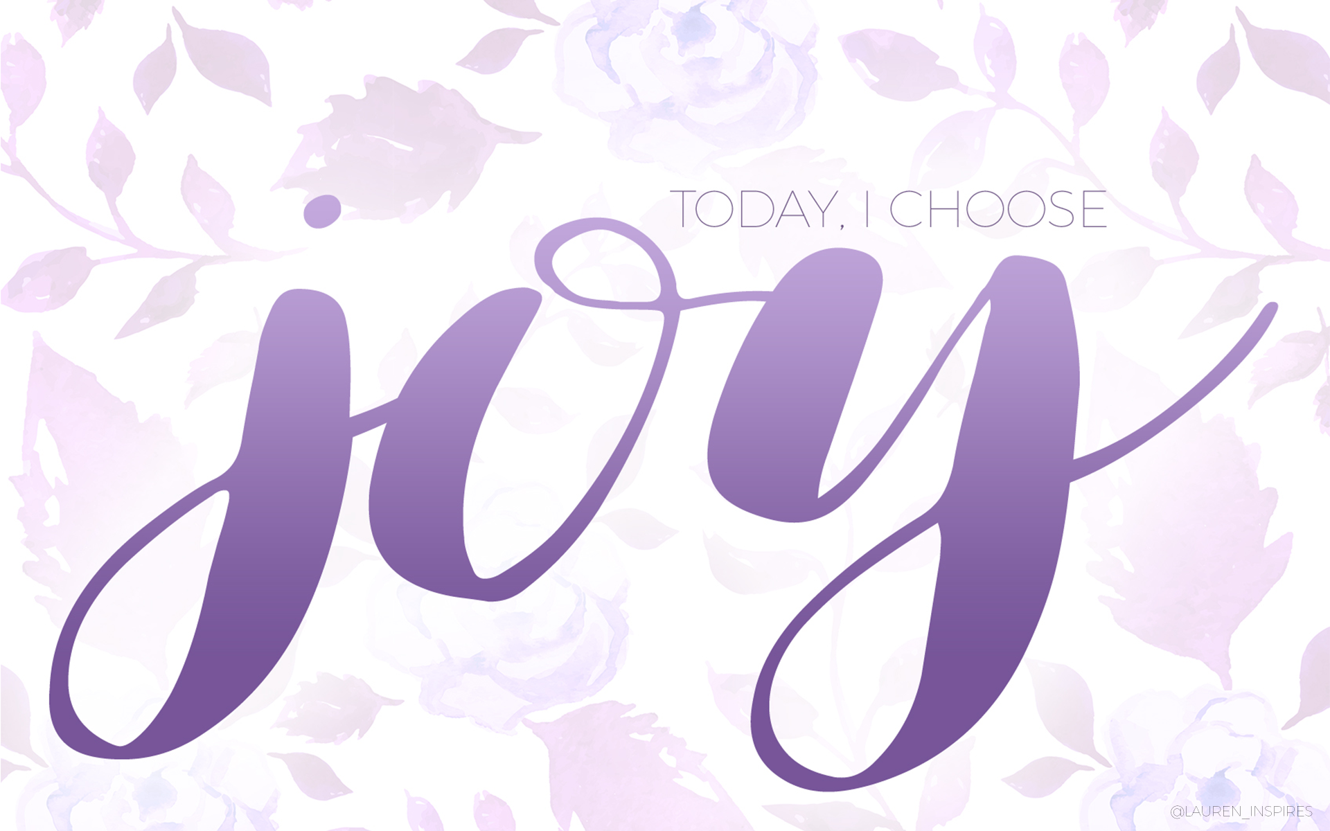 today i choose joy wallpaper