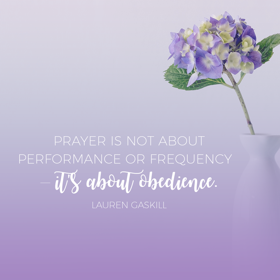 Prayer is not about performance or frequency — it's about obedience.
