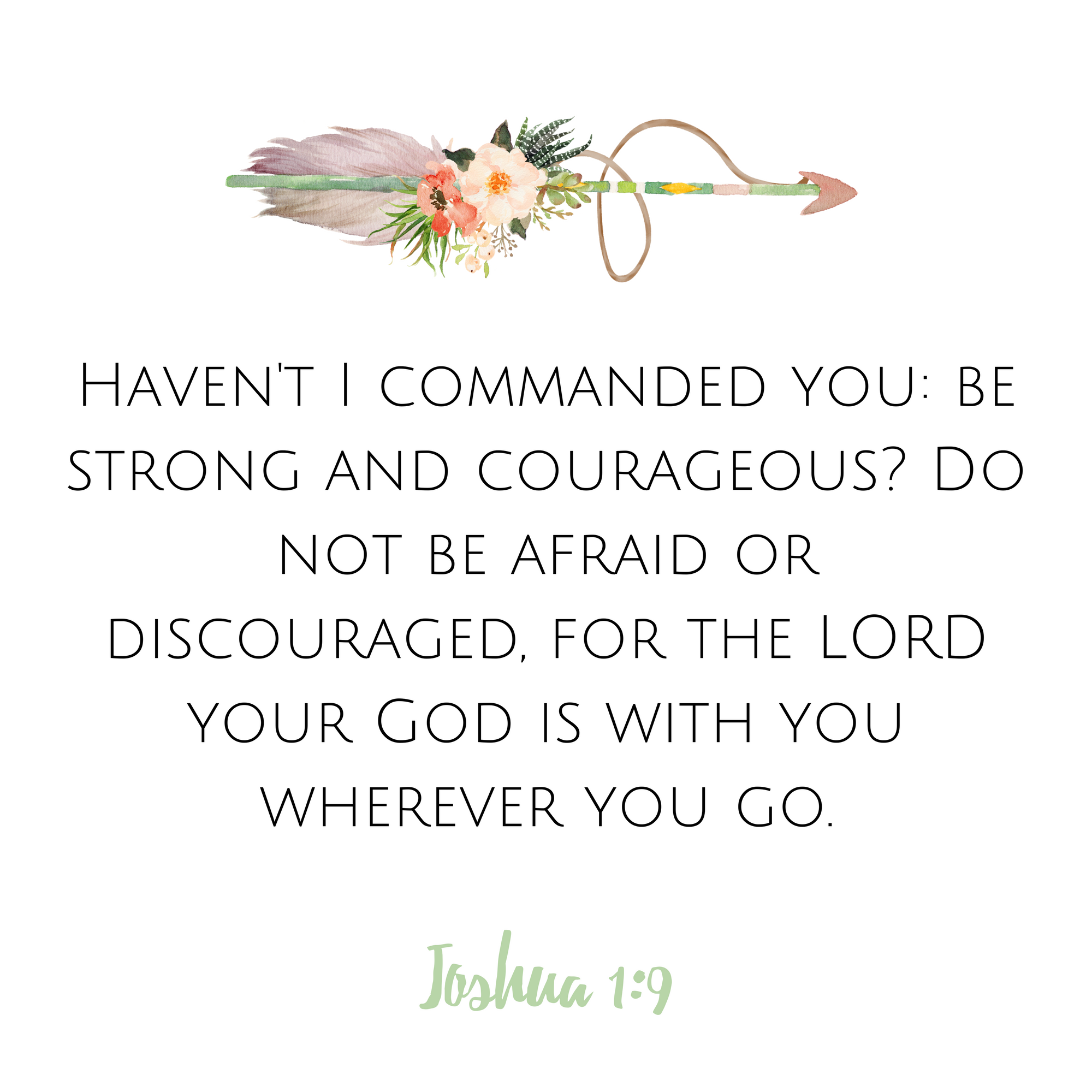 joshua 1 9 scripture card ready study www therescuedletters com